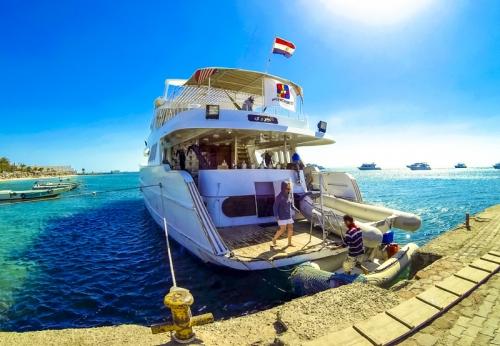 Egyiptom kitesafari hajó Vörös tenger